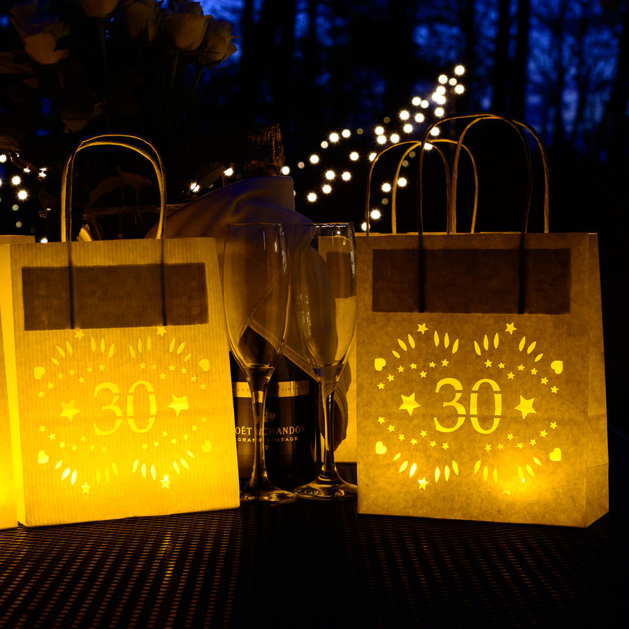 30th birthday paper lantern bag party decoration by for 30th birthday decoration