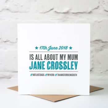 Personalised Father's Day Card For Mums