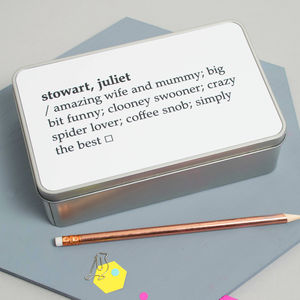 Personalised Dictionary Definition Tin - tins, jars & bottles