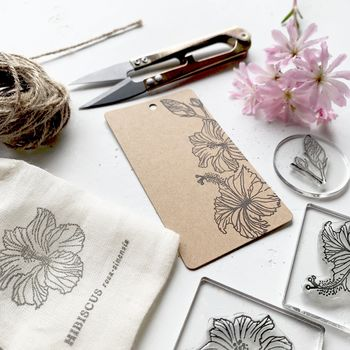 Hibiscus Clear Rubber Stamp