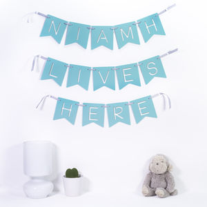 Personalised Message Acrylic Bunting - bunting & garlands