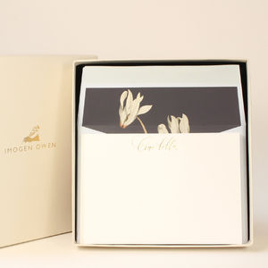 Luxury Cyclamen Letter Writing Set - notelets & writing paper