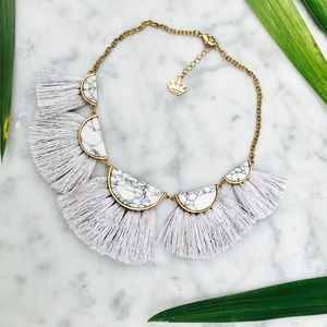 Fringed Marble Necklace - new in womens jewellery