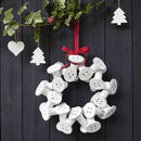 Cotton Bobbin Christmas Wreath