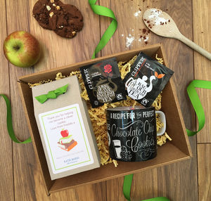 Personalised Diy Tea And Biscuits Hamper Teacher Gift