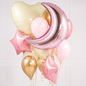 Baby Pink Baby Shower Crazy Balloon Bunch