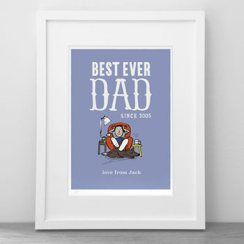 'Best Ever Dad' Personalised Print