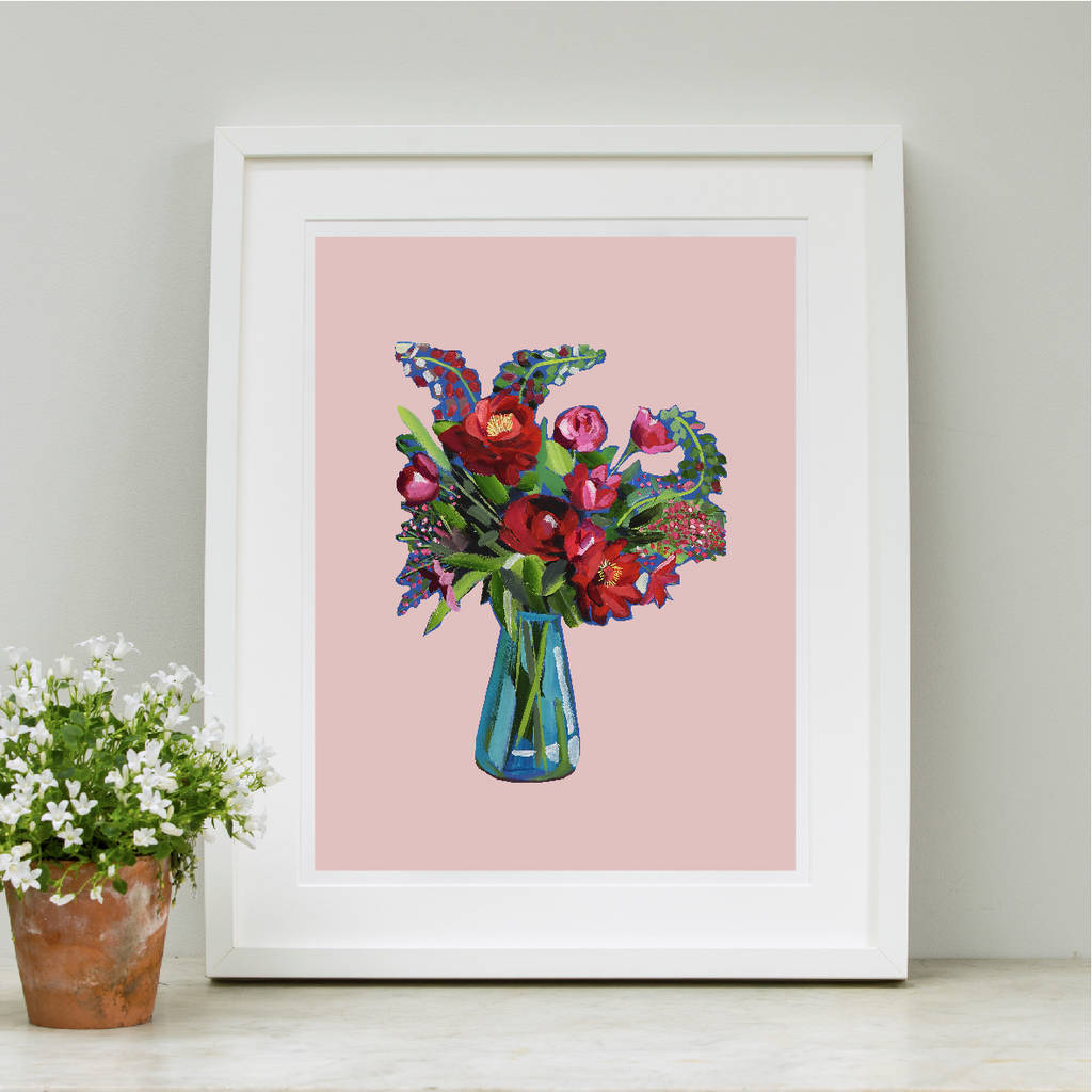 Red Red Rose Still Life Print