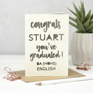 Laser Cut Personalised Graduation Card - graduation cards