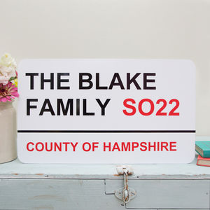 Personalised Street Sign - door plaques & signs