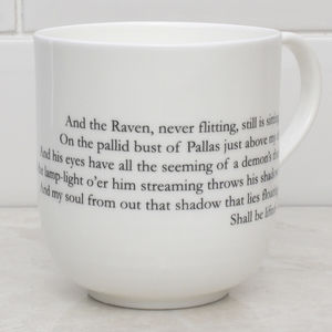 Edgar Allan Poe's The Raven Literary Bone China Cup