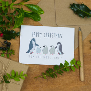 Penguin Family Christmas Card - shop by category