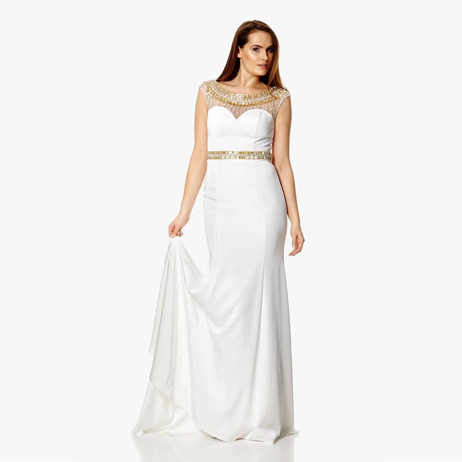 Alternative Wedding Daphne White Dress By Dynasty London Notonthehighstreet