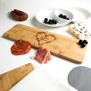 Personalised Bamboo Serving Board Wedding Gift - serving dishes