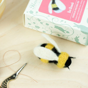 Bee Brooch Needle Felting Craft Kit - sewing kits