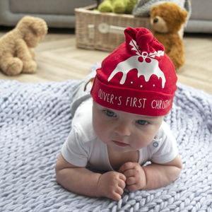 Personalised First Christmas Baby Hat - view all new