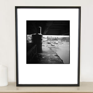 Boats, Railway Bridge Devon, Photographic Art Print