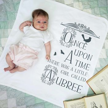 Personalised Once Upon A Time Baby Blanket