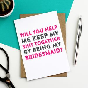 Will You Help Me Be My Bridesmaid Greetings Card - summer sale