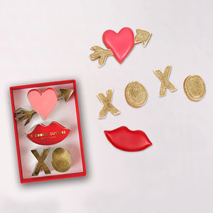 Love Heart And Kisses Cookie Cutters