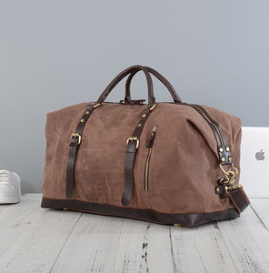 Waxed Classic Travel Holdall Bag Personalised - summer sale