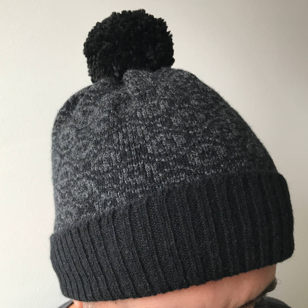 983f76e1659 mens knitted lambswool bobble hat by little knitted stars ...