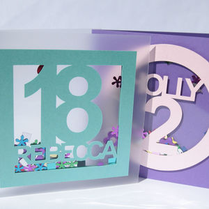 3D Confetti Shaker Birthday Card - birthday cards