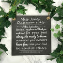 Personalised Classroom Rules Engraved Slate Sign