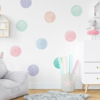 Pastel Watercolour Confetti Wall Sticker Dots
