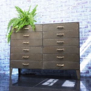 Industrial Metal Lofthouse Cabinet