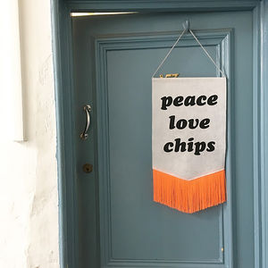 'Peace Love Chips' Wall Hanging - just because gifts