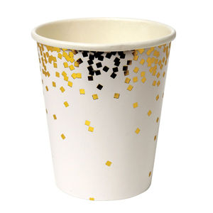 Gold Foil Confetti Party Paper Cups