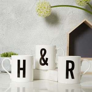 Alphabet Initial Letter Mug - home accessories