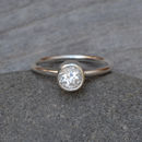 White Topaz Stacking Ring Set In Sterling Silver