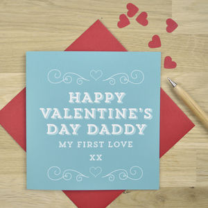 Daddy Valentine's Day Card 'First Love' - new in valentine's day