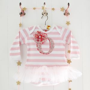 Personalised Baby Tutu Bodysuit - babygrows