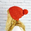Chunky Hand Knit Bobble Hat Brights