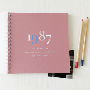 Personalised Landmark Year Memory Book Or Album - planners & record books