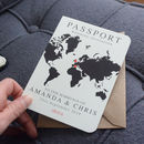 World Map Passport Wedding Invitation