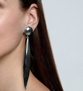 Sterling Silver Adira Statement Drop Earrings