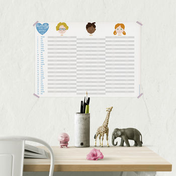 Personalised Family Activity Calendar