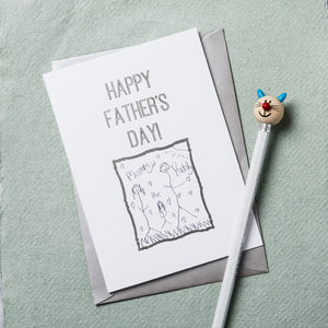 Personalised Draw Your Own Father's Day Card