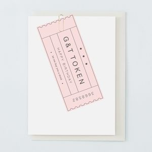 Gin And Tonic Birthday Card - general birthday cards