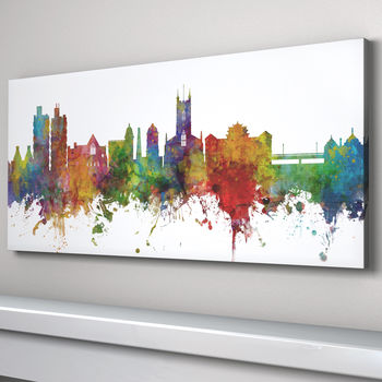 Stoke On Trent Skyline Cityscape Art Print