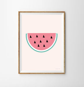 Watermelon Children's Print - food & drink prints