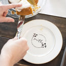 'Dinner With The…' Personalised Side Plate