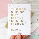 Card For Her 'Little But Fierce' Gold Foil Card