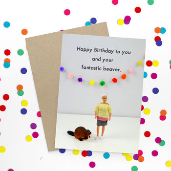 Rude Beaver Birthday Card