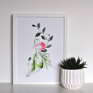 Tropical Flamingo Framed Print - posters & prints