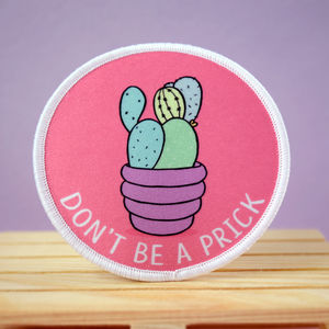 Cactus Pun Iron On Patch